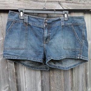Women's Aeropostale Blue Jean Shorts Size 13/14